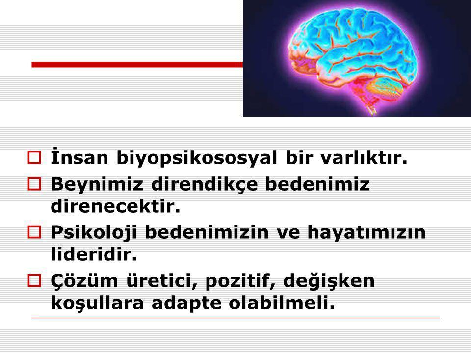 İnsan biyopsikososyal bir varlıktır.