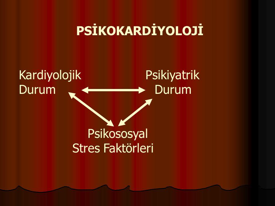 PSİKOKARDİYOLOJİ Kardiyolojik Psikiyatrik. Durum Durum.