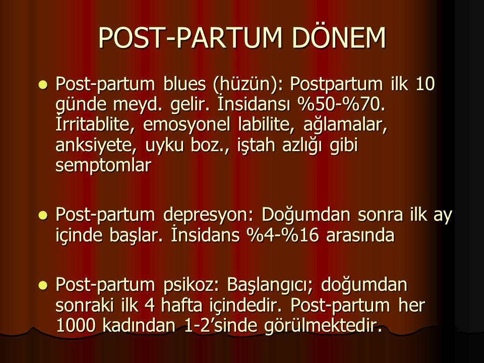 POST-PARTUM DÖNEM