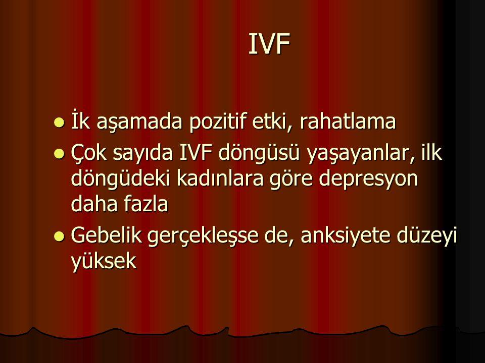 IVF İk aşamada pozitif etki, rahatlama