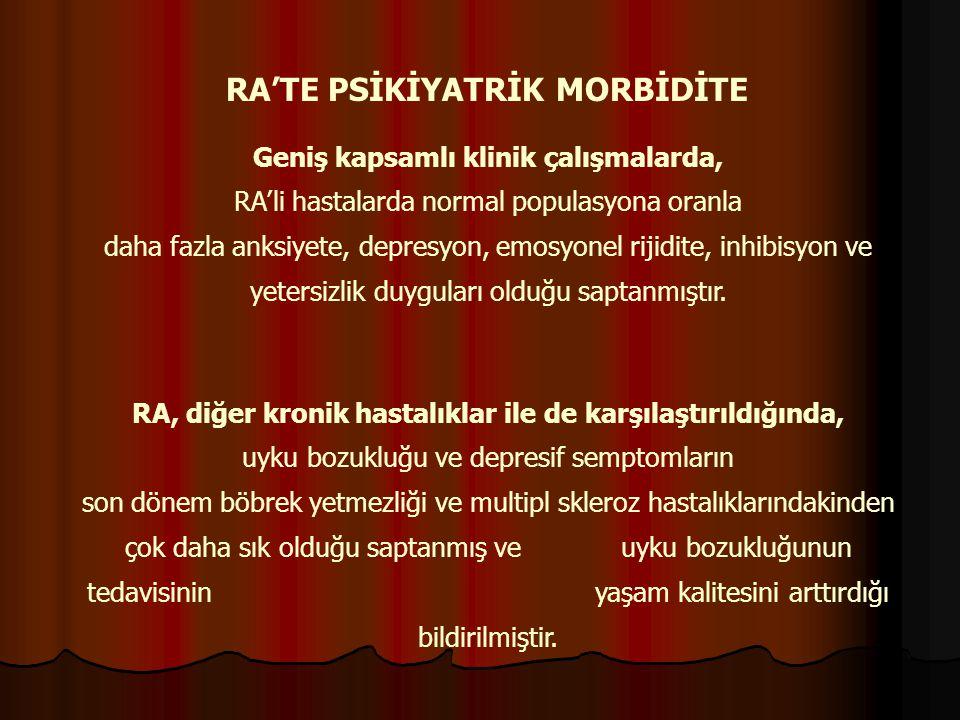 RA'TE PSİKİYATRİK MORBİDİTE