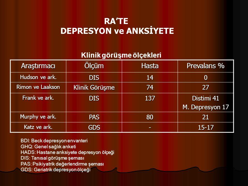 DEPRESYON ve ANKSİYETE