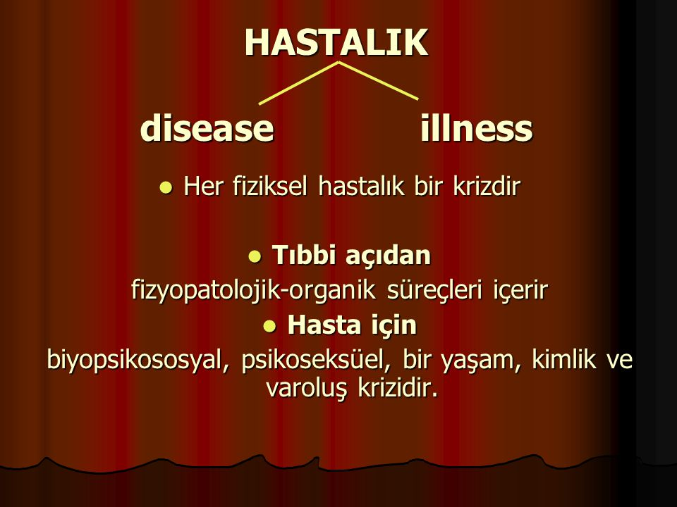 HASTALIK disease illness