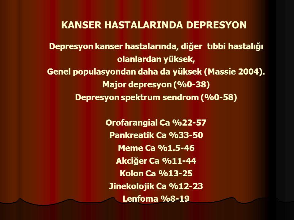 KANSER HASTALARINDA DEPRESYON