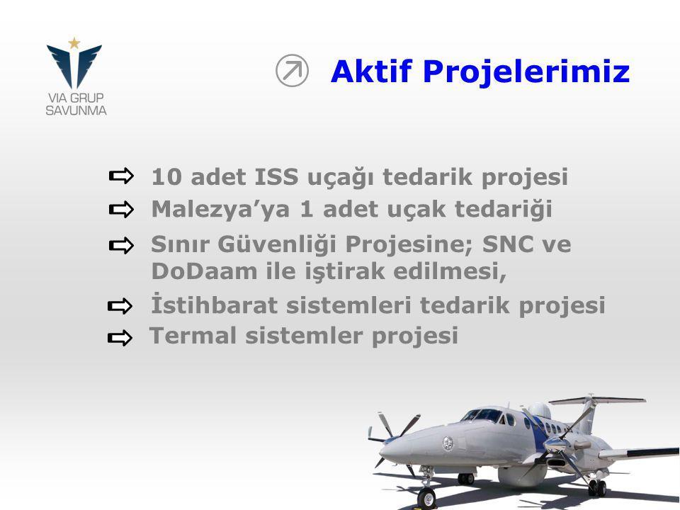 Aktif Projelerimiz 10 adet ISS uçağı tedarik projesi