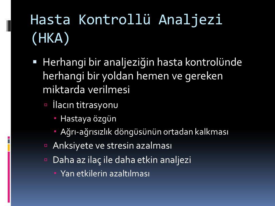 Hasta Kontrollü Analjezi (HKA)
