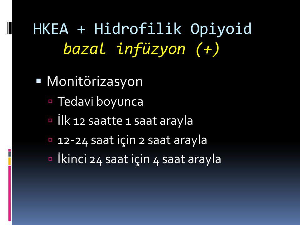 HKEA + Hidrofilik Opiyoid bazal infüzyon (+)