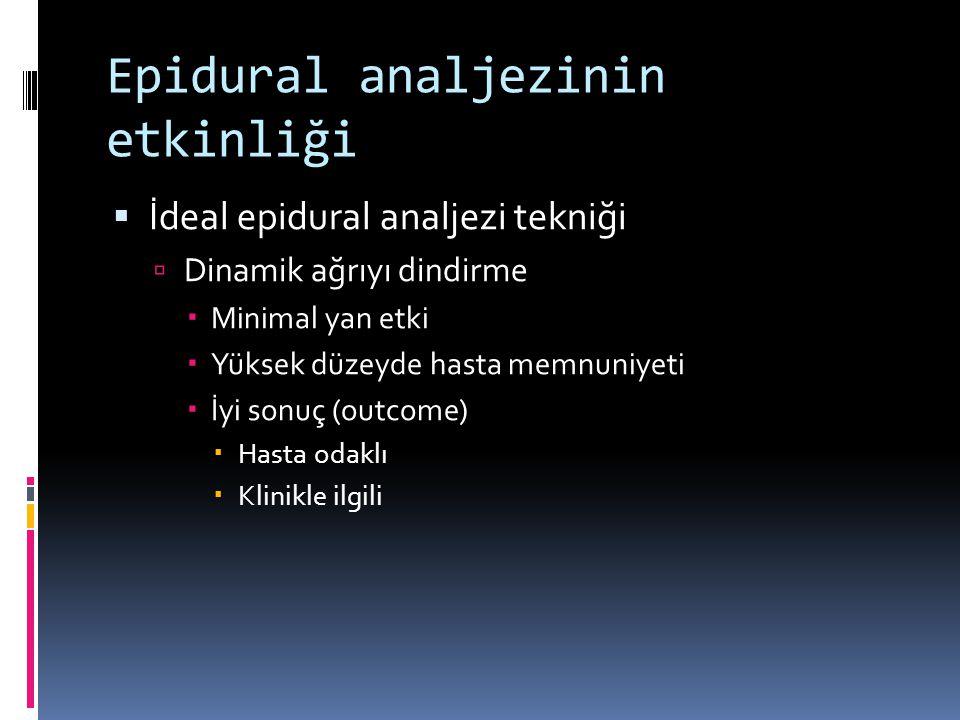 Epidural analjezinin etkinliği