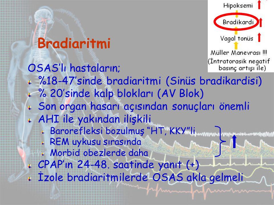 Bradiaritmi OSAS'lı hastaların;