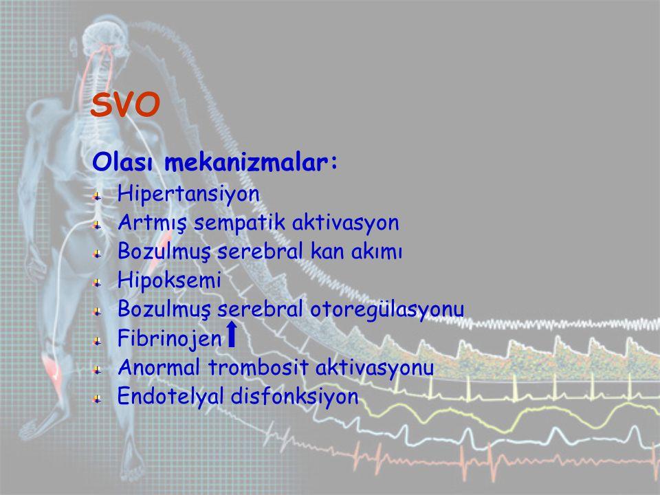 SVO Olası mekanizmalar: Hipertansiyon Artmış sempatik aktivasyon