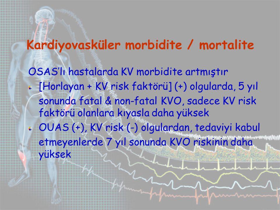 Kardiyovasküler morbidite / mortalite