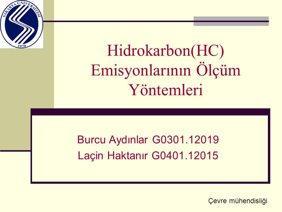 Hidrokarbon(HC) Emisyonlarının Ölçüm Yöntemleri