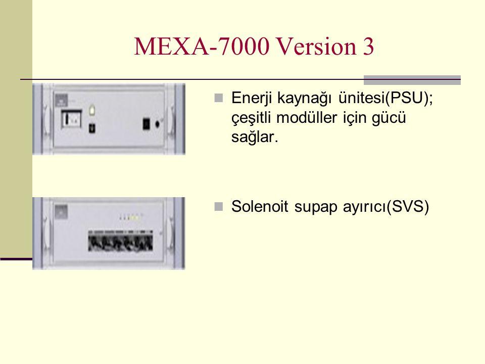 MEXA-7000 Version 3 Enerji kaynağı ünitesi(PSU); çeşitli modüller için gücü sağlar.