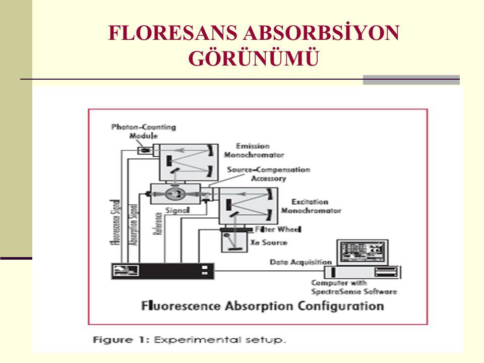 FLORESANS ABSORBSİYON GÖRÜNÜMÜ