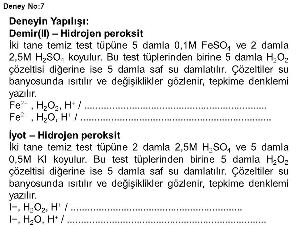 Demir(II) – Hidrojen peroksit