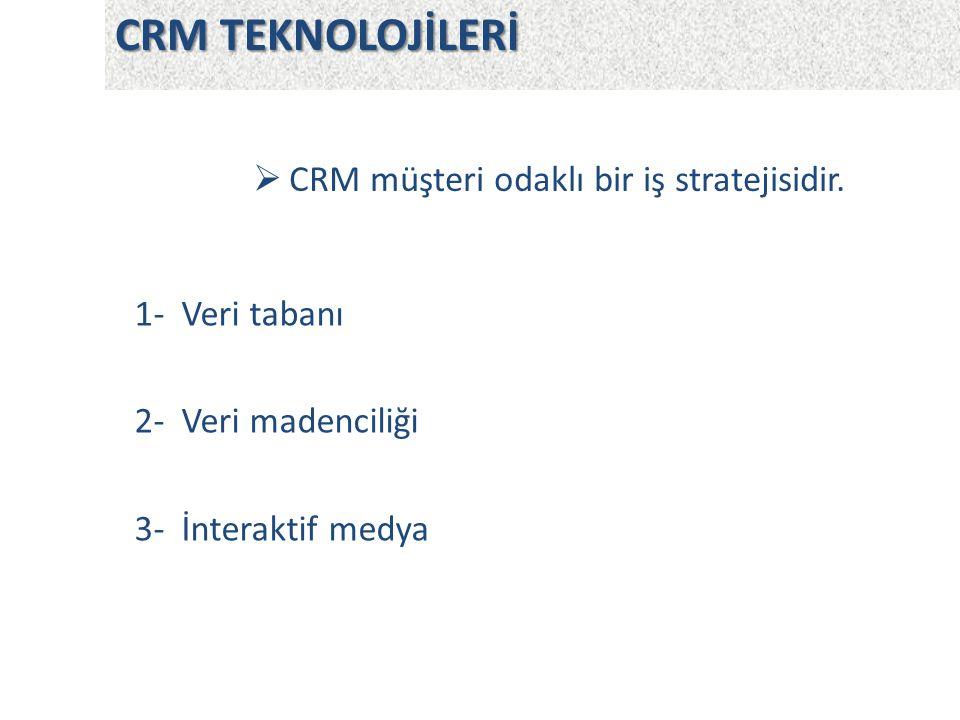 CRM müşteri odaklı bir iş stratejisidir.