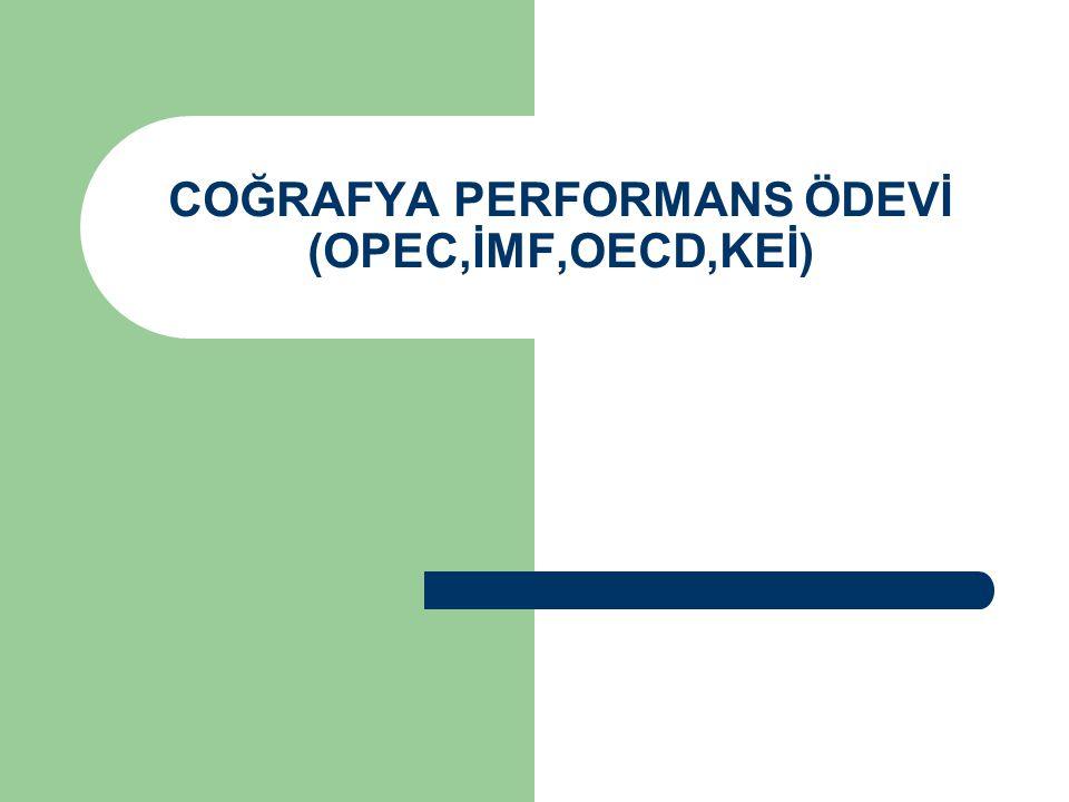 COĞRAFYA PERFORMANS ÖDEVİ (OPEC,İMF,OECD,KEİ)