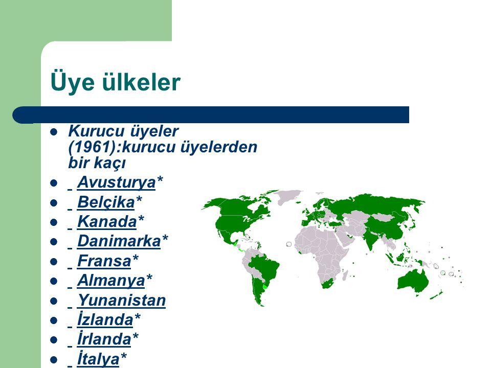 Üye ülkeler Kurucu üyeler (1961):kurucu üyelerden bir kaçı Avusturya*