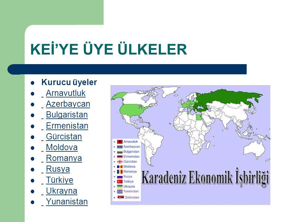 KEİ'YE ÜYE ÜLKELER Kurucu üyeler Arnavutluk Azerbaycan Bulgaristan