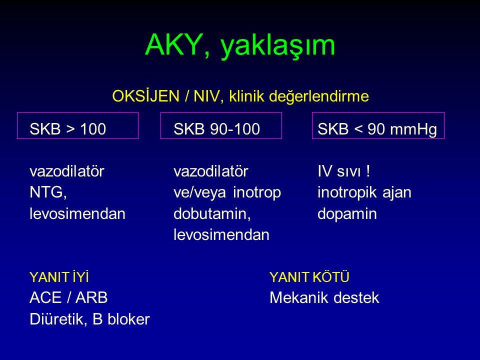 OKSİJEN / NIV, klinik değerlendirme