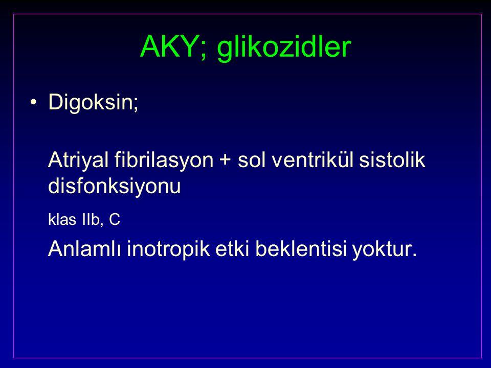 AKY; glikozidler Digoksin;