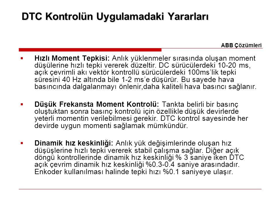 DTC Kontrolün Uygulamadaki Yararları