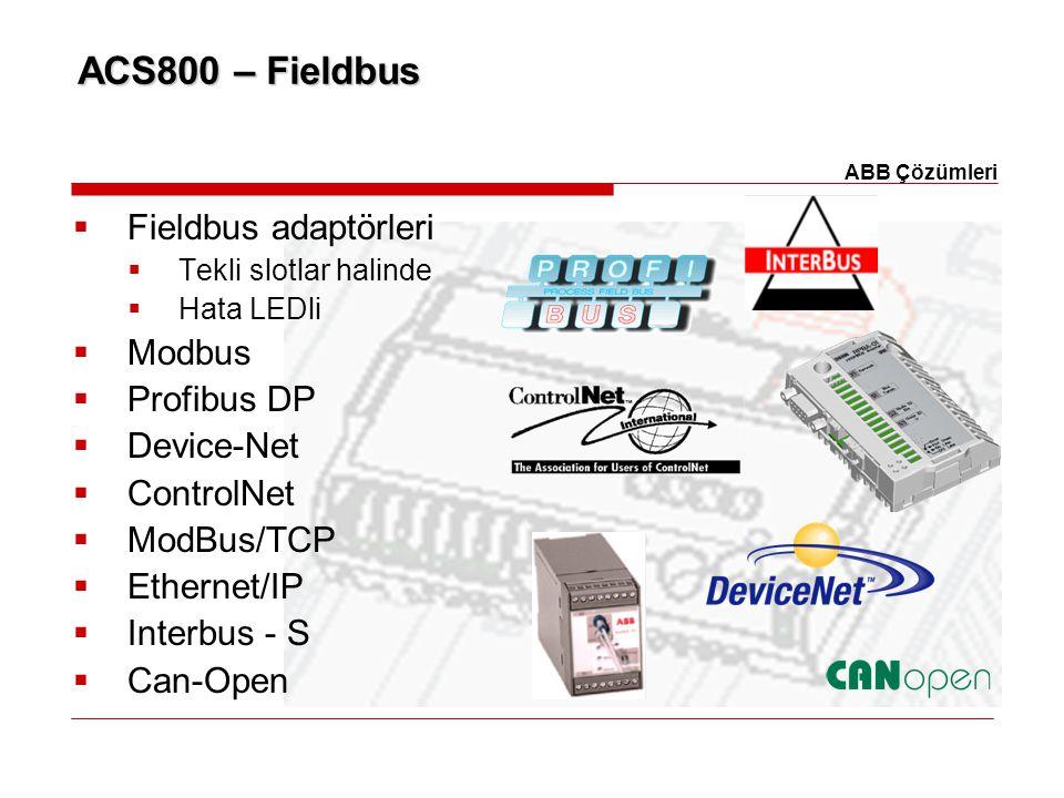 ACS800 – Fieldbus Fieldbus adaptörleri Modbus Profibus DP Device-Net