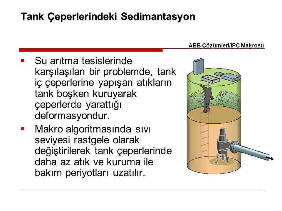 Tank Çeperlerindeki Sedimantasyon