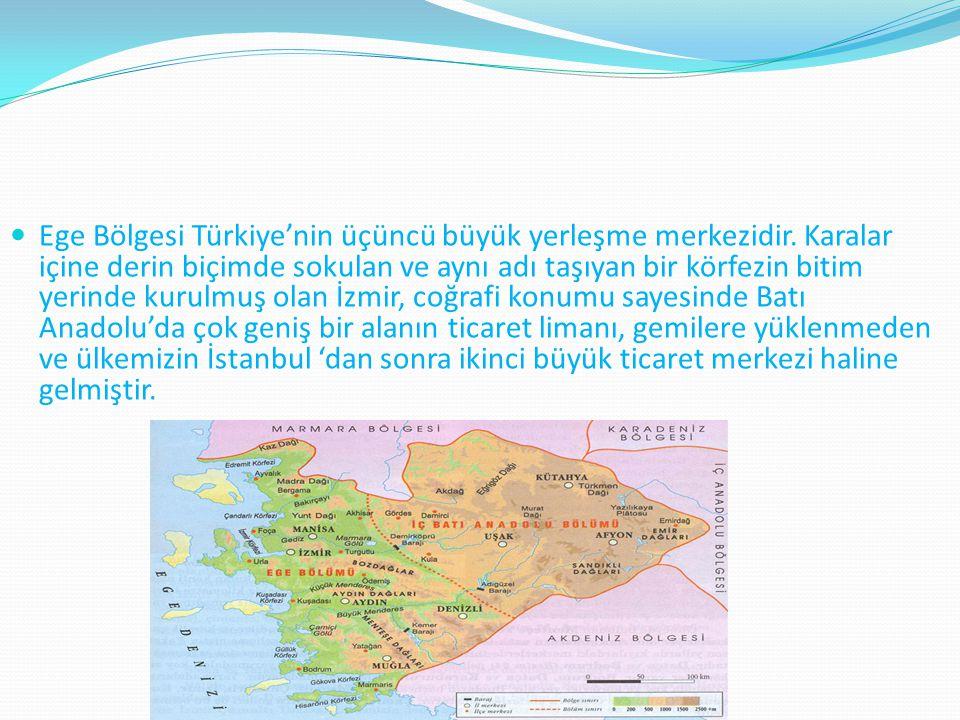 Ege Bölgesi Türkiye'nin üçüncü büyük yerleşme merkezidir