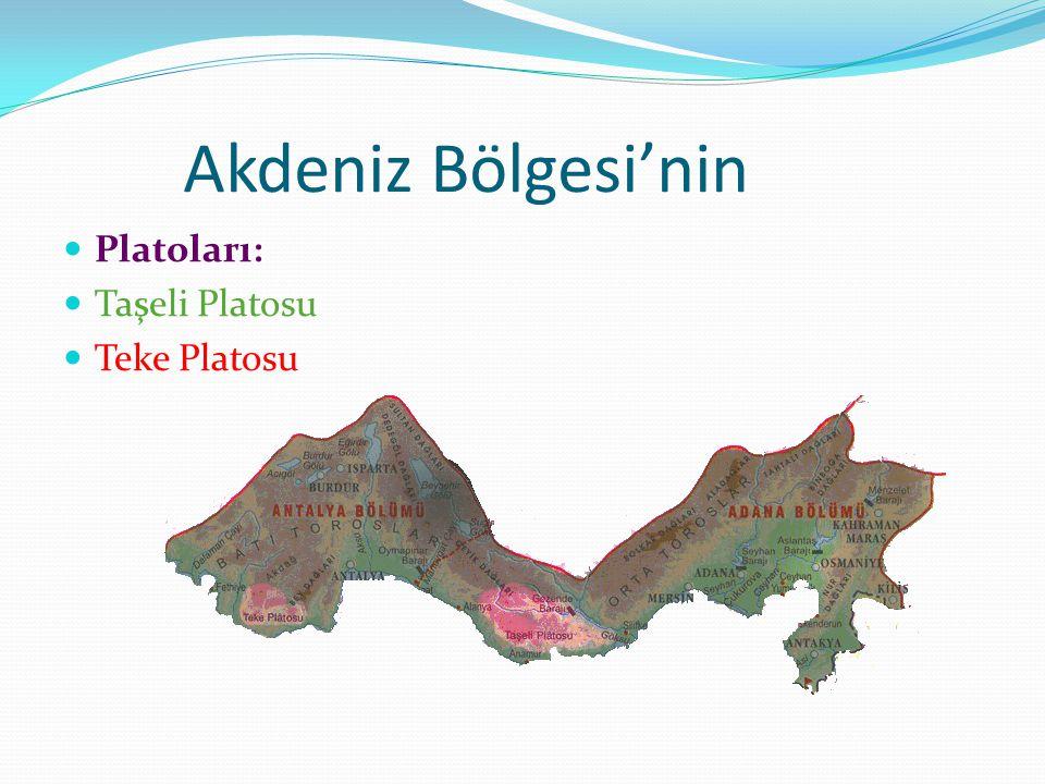 Akdeniz Bölgesi'nin Platoları: Taşeli Platosu Teke Platosu