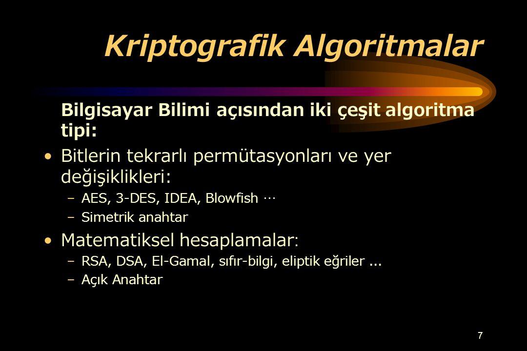 Kriptografik Algoritmalar