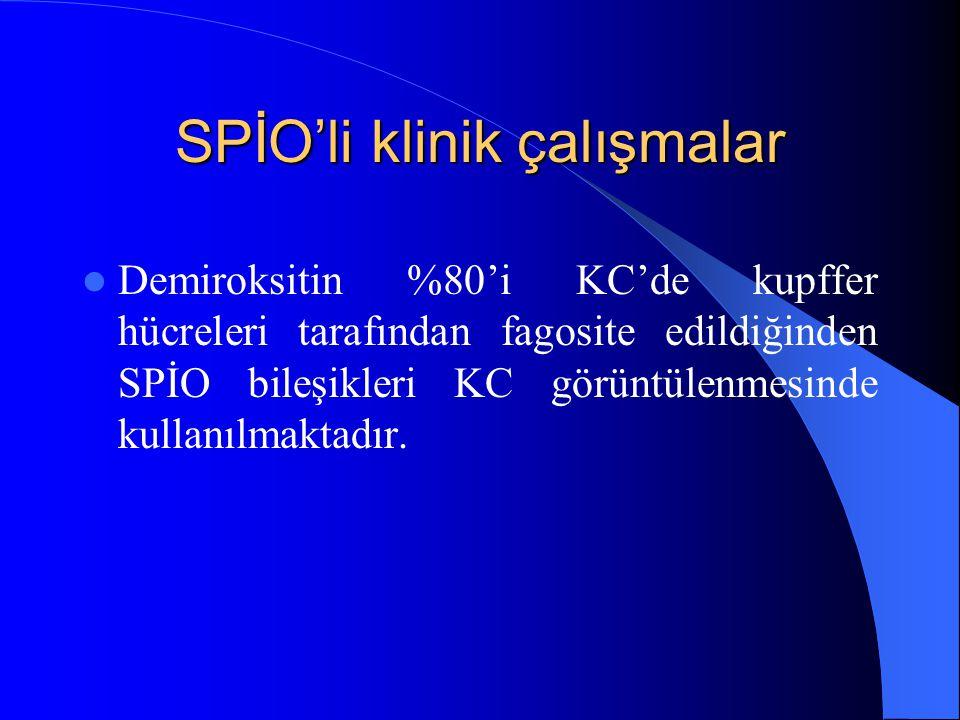 SPİO'li klinik çalışmalar
