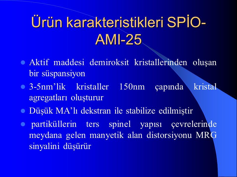 Ürün karakteristikleri SPİO-AMI-25