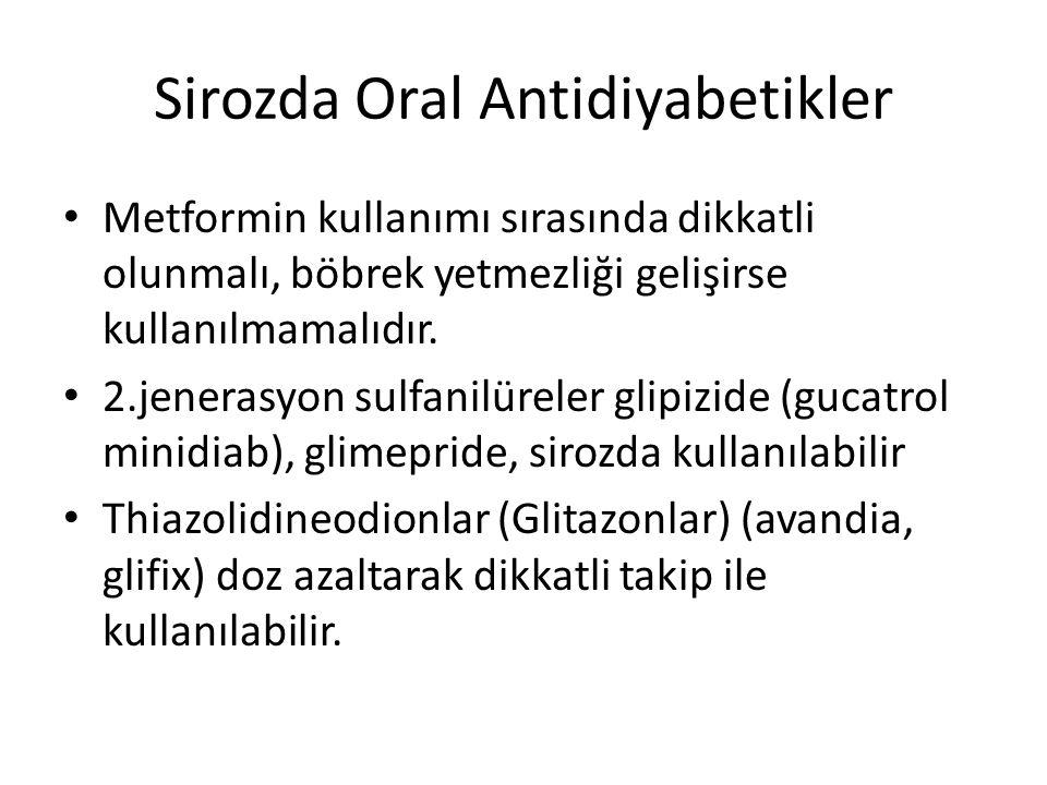 Sirozda Oral Antidiyabetikler
