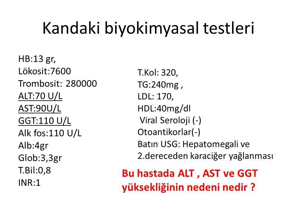 Kandaki biyokimyasal testleri