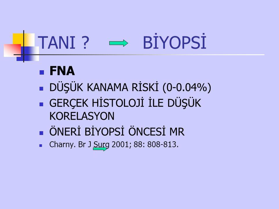 TANI BİYOPSİ FNA DÜŞÜK KANAMA RİSKİ (0-0.04%)