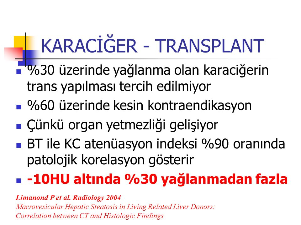 KARACİĞER - TRANSPLANT
