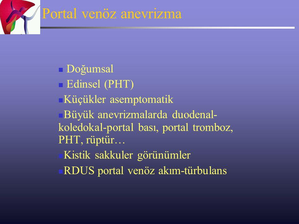 Portal venöz anevrizma
