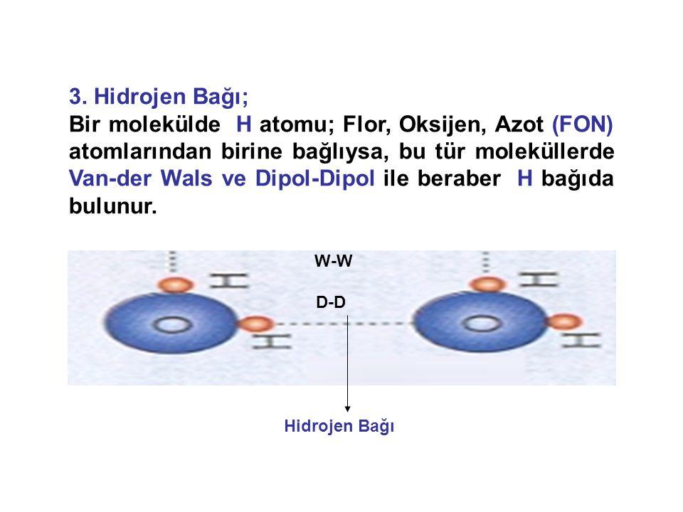 3. Hidrojen Bağı;