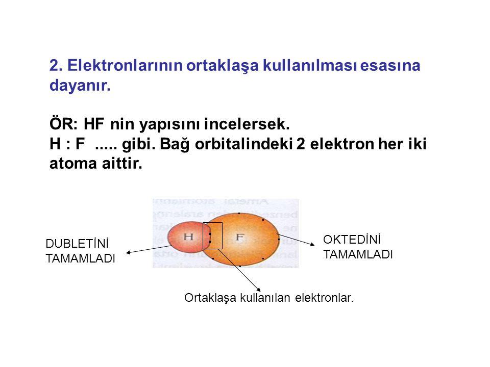 : 2. Elektronlarının ortaklaşa kullanılması esasına dayanır.
