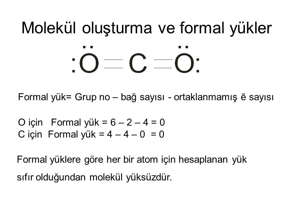 Molekül oluşturma ve formal yükler