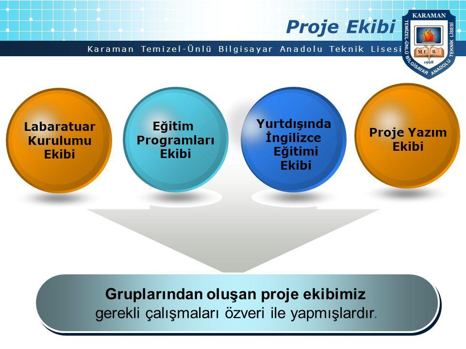Proje Ekibi Gruplarından oluşan proje ekibimiz
