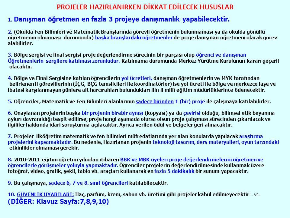 PROJELER HAZIRLANIRKEN DİKKAT EDİLECEK HUSUSLAR