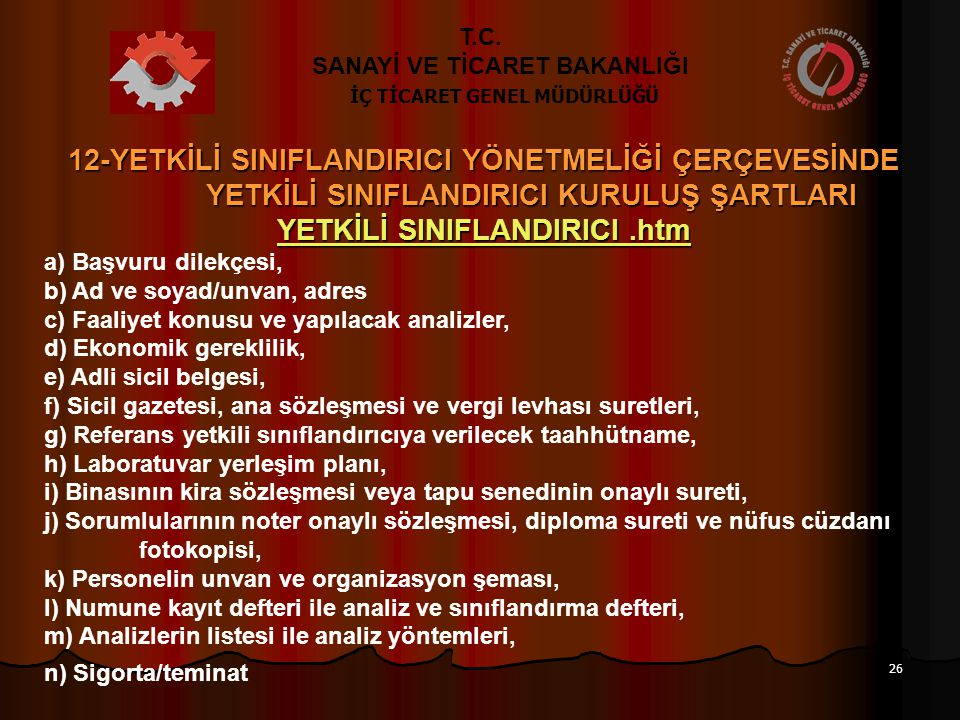 YETKİLİ SINIFLANDIRICI .htm