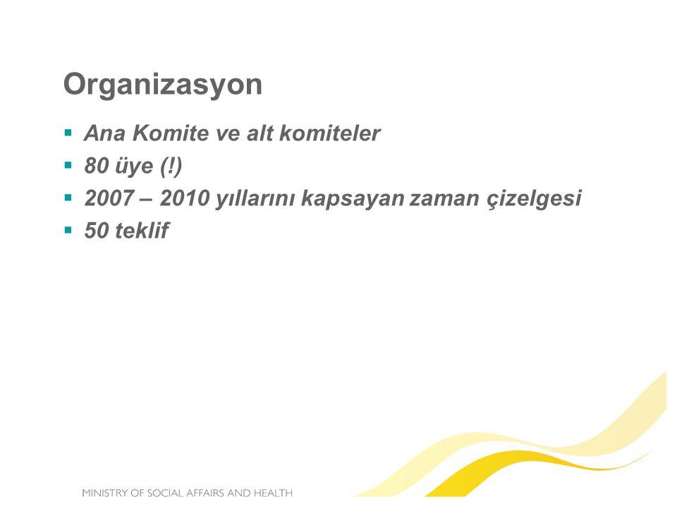 Organizasyon Ana Komite ve alt komiteler 80 üye (!)
