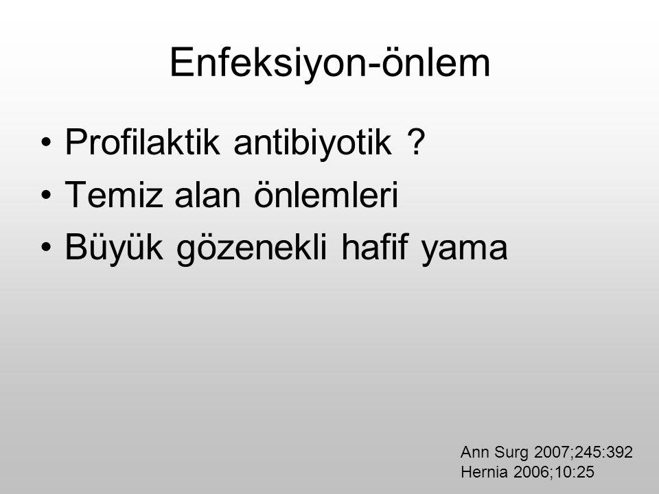 Enfeksiyon-önlem Profilaktik antibiyotik Temiz alan önlemleri