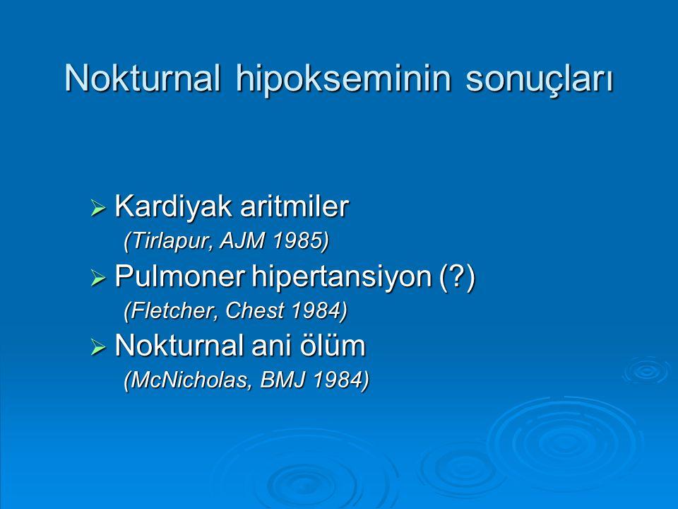 Nokturnal hipokseminin sonuçları