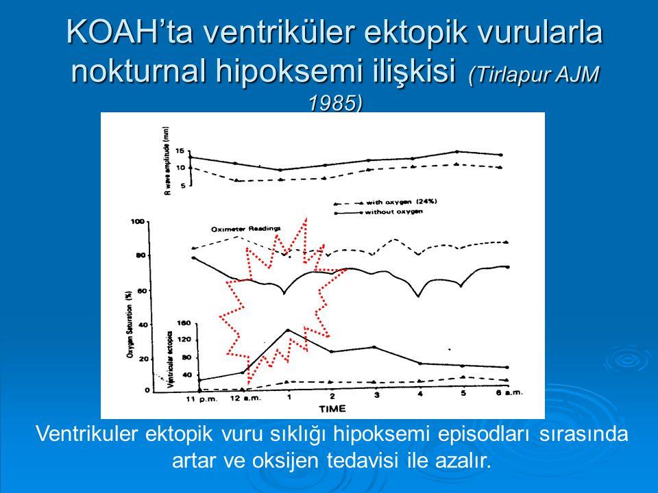 KOAH'ta ventriküler ektopik vurularla nokturnal hipoksemi ilişkisi (Tirlapur AJM 1985)