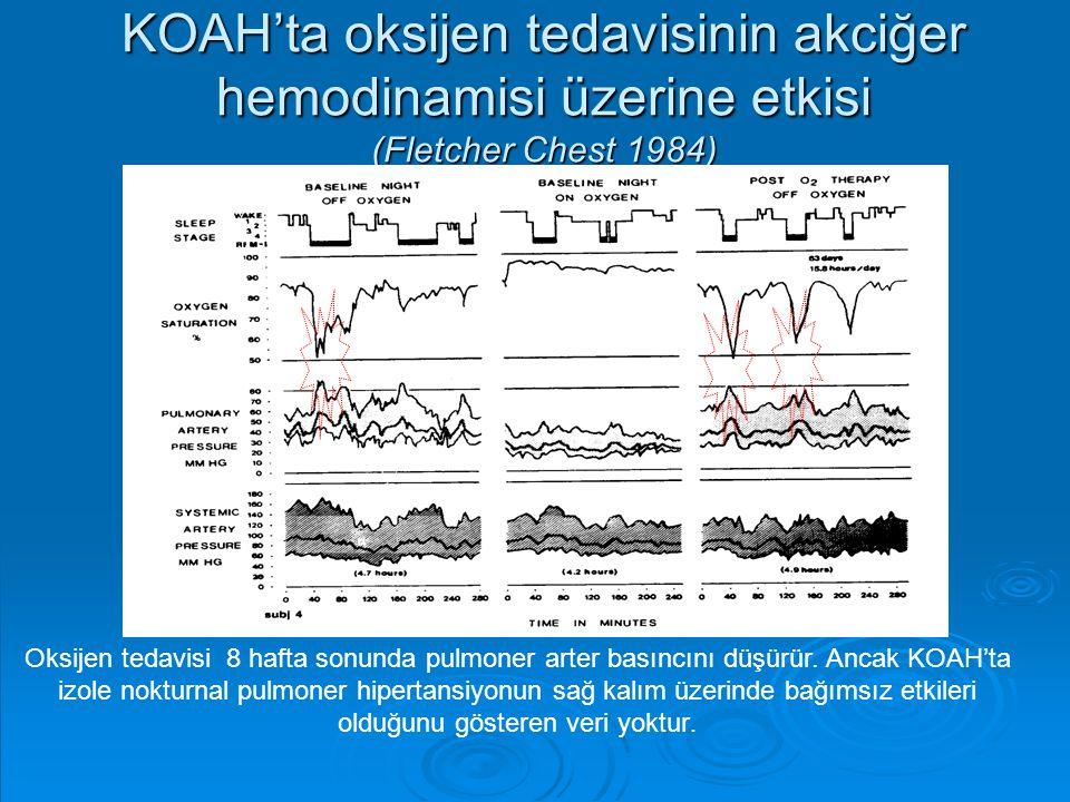 KOAH'ta oksijen tedavisinin akciğer hemodinamisi üzerine etkisi (Fletcher Chest 1984)