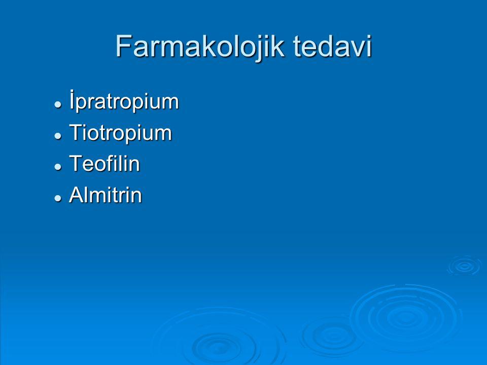 Farmakolojik tedavi İpratropium Tiotropium Teofilin Almitrin